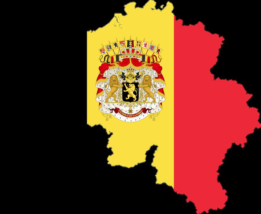 National Flower of Belgium Flag