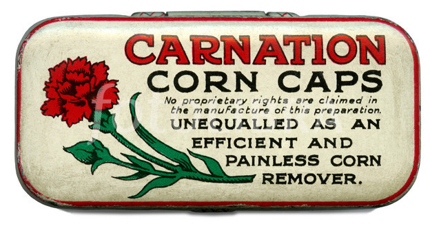 Tin of Carnation Corn Caps