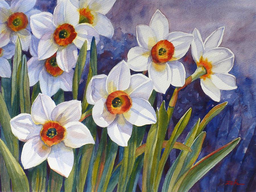 Daffodil flower art
