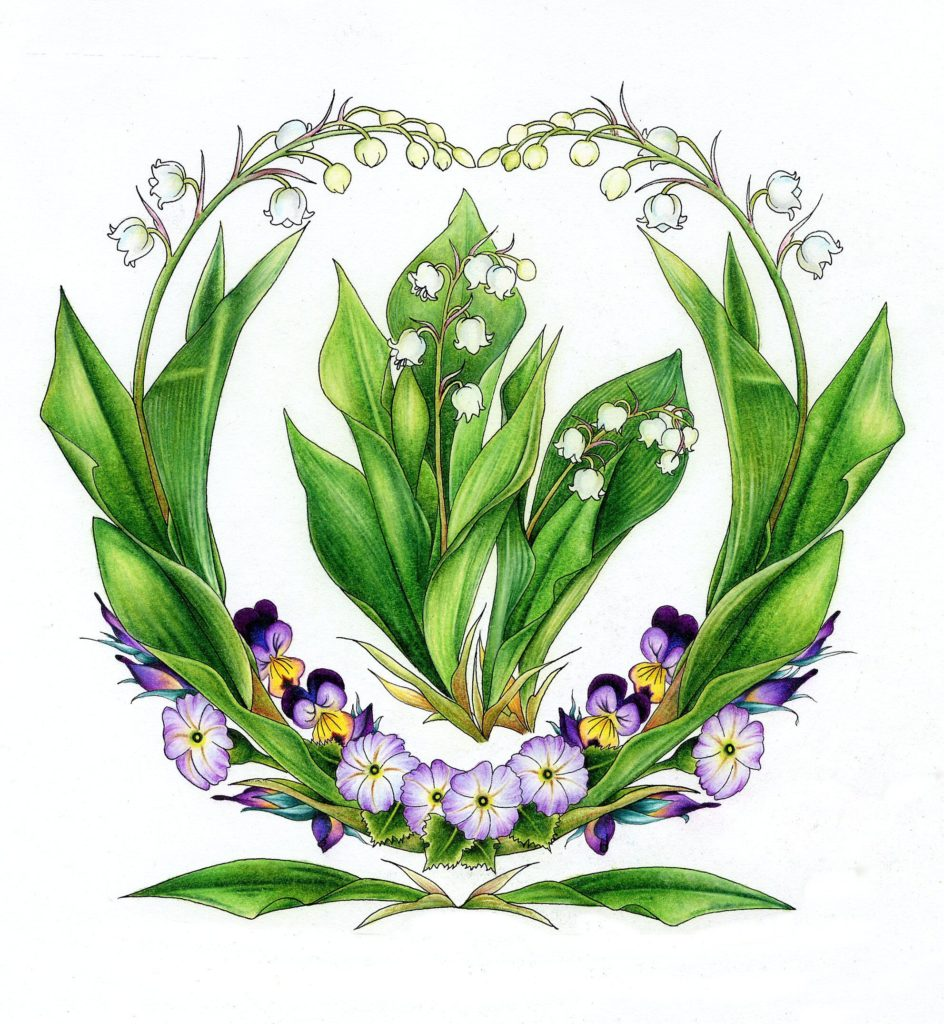 Lily of the Valley flower art